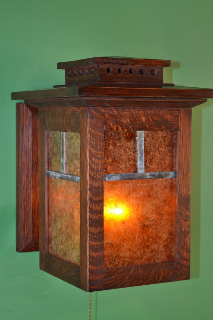 Wall Sconce Mission Oak Lamp