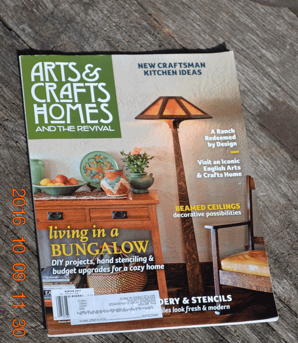 Ragsdale home furnishings arts and crafts home magazine for Arts and crafts home magazine